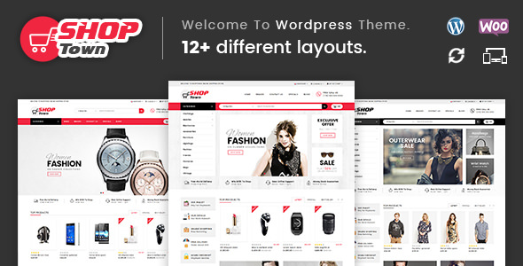 Download Free Shop Town v1.0 - Multipurpose WooCommerce Theme - Crack Themes