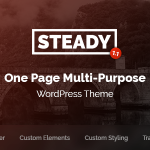 Download Free Steady v1.1 - One Page Multi-Purpose WordPress Theme