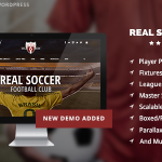 Download Free Real Soccer v2.20 - Sport Clubs Responsive WP Theme