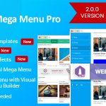 Download Free WP Mega Menu Pro v2.0.0 - Responsive Mega Menu Plugin