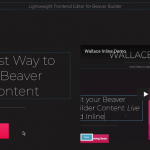 Download Free Wallace Inline v1.2.4 – Front-end editor for Beaver Builder