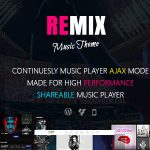 Download Free Remix v3.9.6 - Music band and Musician AJAX Theme
