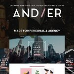 Download Free Andier v1.2.1 - Responsive One & Multi Page Portfolio Theme