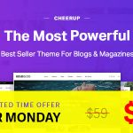 Download Free CheerUp v6.0.1 – Blog / Magazine – WordPress Blog Theme