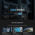 Download Free Onehost v1.3.9 - One Page WordPress Hosting Theme + WHMCS