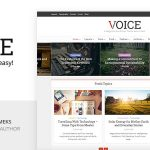 Download Free Voice v2.8.3 - Clean News/Magazine WordPress Theme