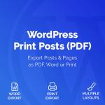 Download Free WordPress Print Posts & Pages (PDF) v1.1.5