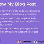 Download Free Follow My Blog Post WordPress Plugin v1.9.6