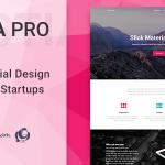 Download Free Hestia Pro v2.1.0 - Sharp Material Design Theme For Startups
