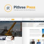 Download Free Pithree v1.6 – Construction & Building WordPress Theme