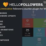 Download Free Hello Followers v2.1 - Social Counter Plugin for WordPress