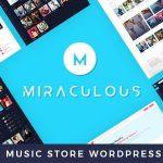 Download Free Miraculous v1.2 - Online Music Store WordPress Theme