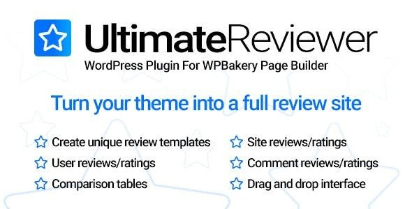Download Free Ultimate Reviewer for WPBakery Page Builder v1